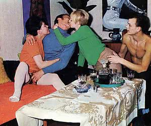 Amazingly hot and wonderful-looking foursome retro sex.